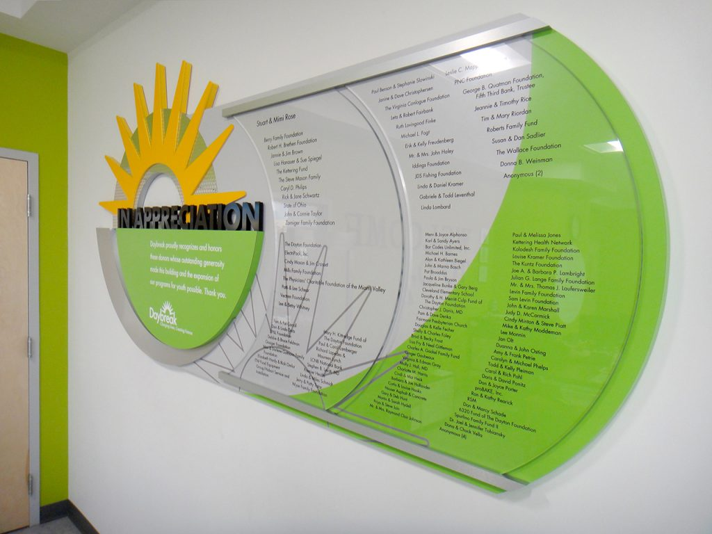 permanent donor display