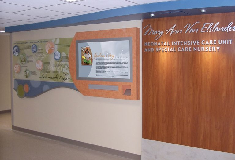 interactive computer donor wall