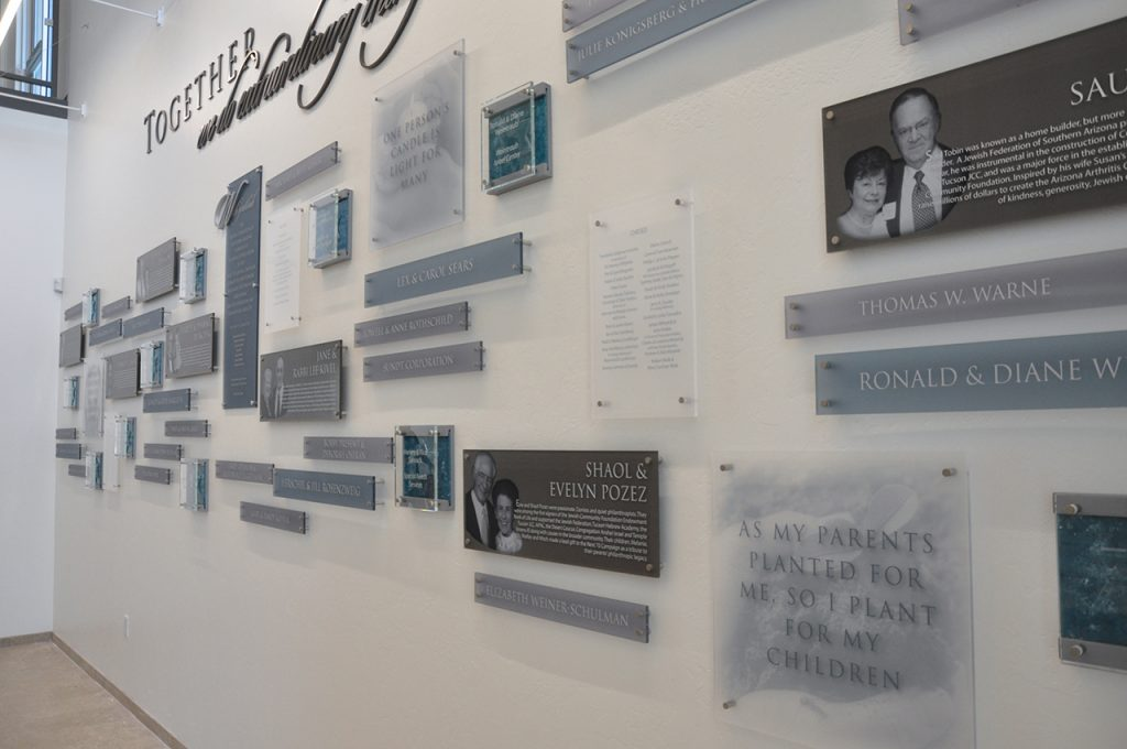 permanent donor wall
