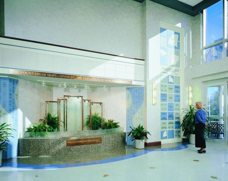 fountain donor wall