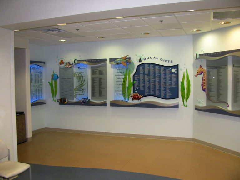 led lit donor wall