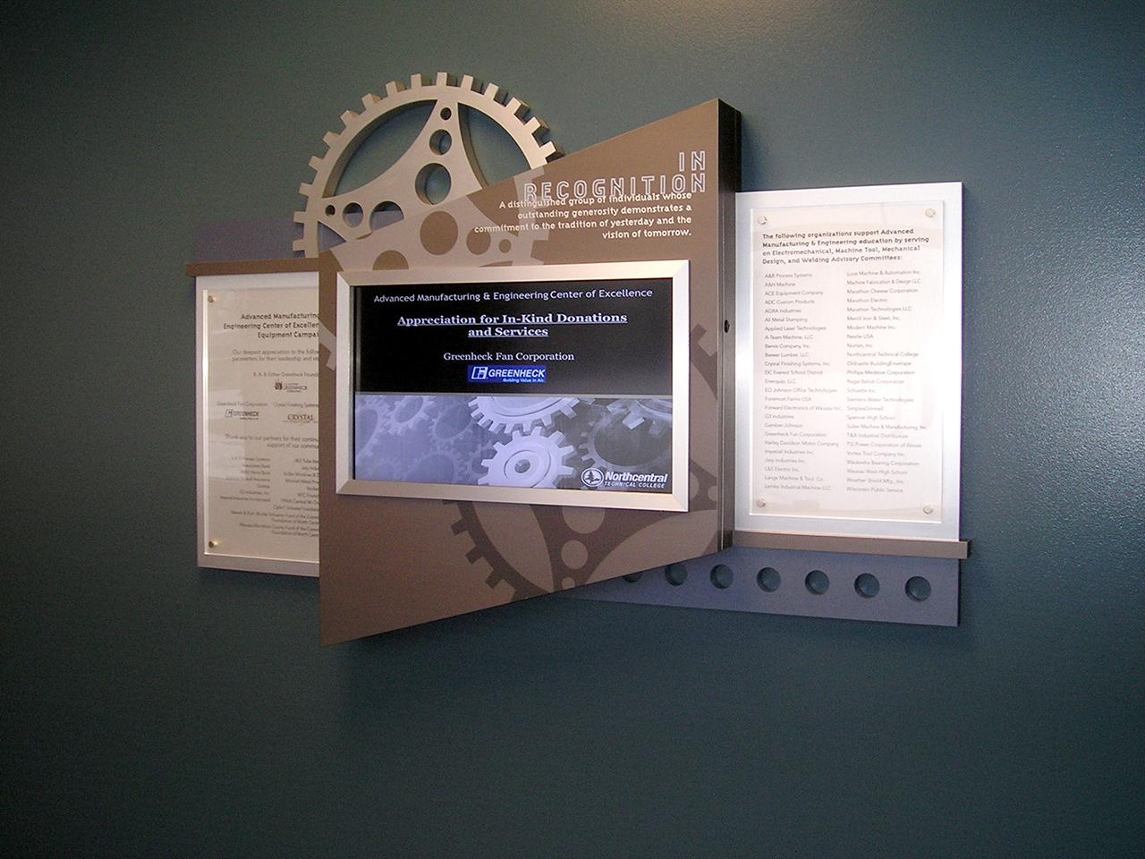 interactive computer donor wall