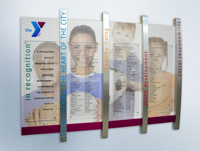 clear change donor wall