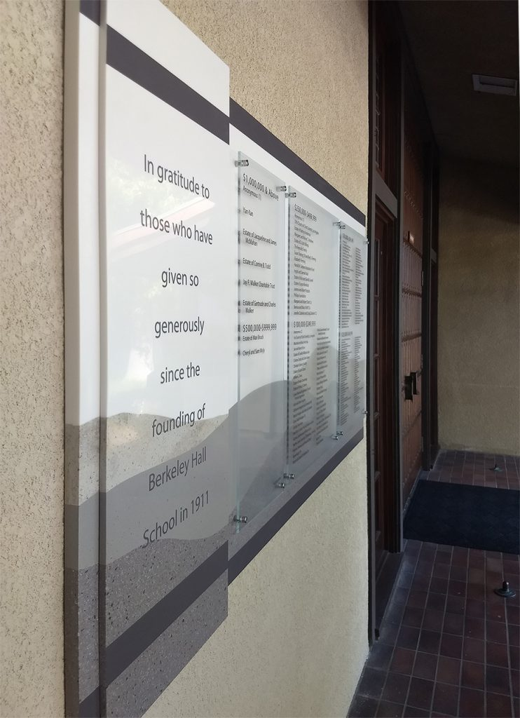outdoor clear change donor wall