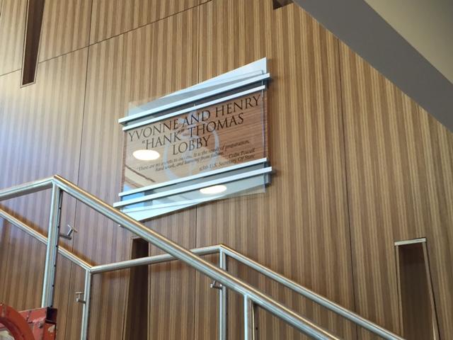 permanent donor recognition plaque