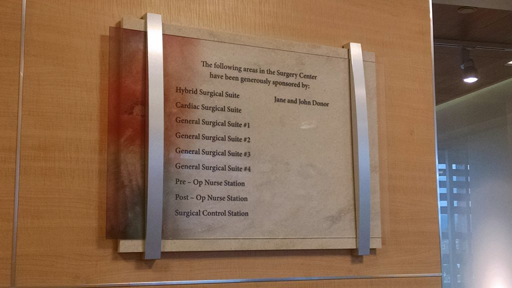 permanent donor plaque