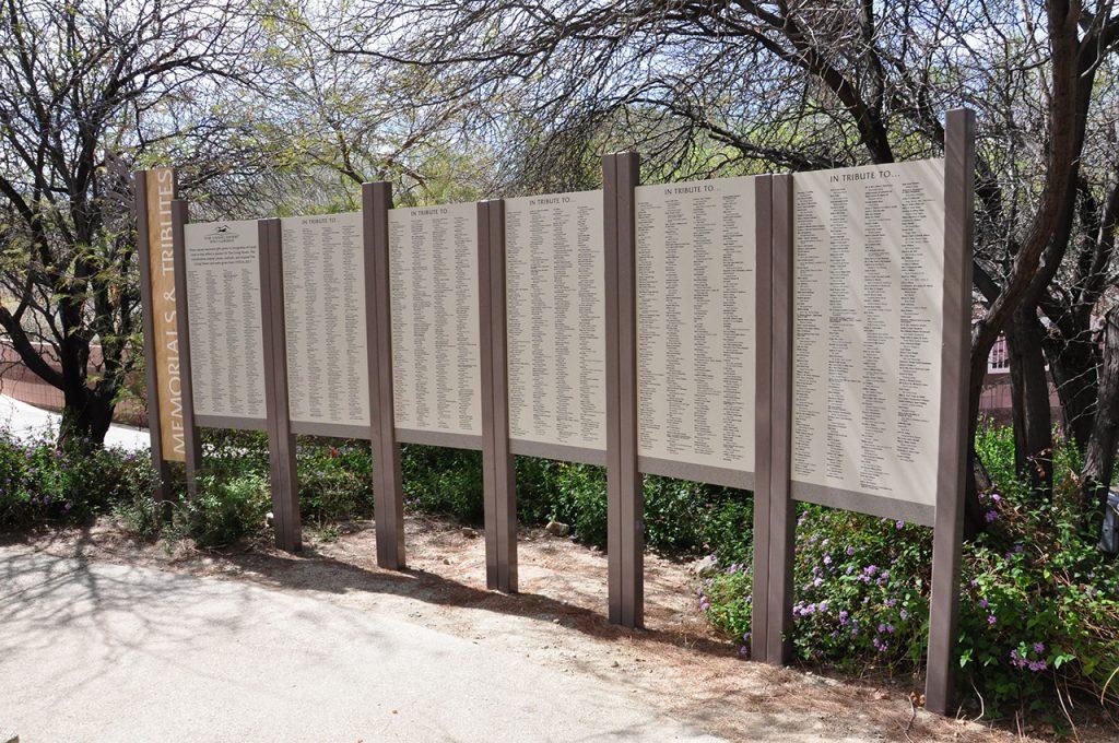 outdoor freestanding permanent donor display