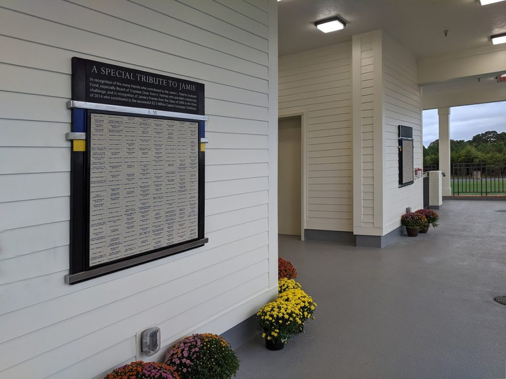 outdoor magtech donor wall