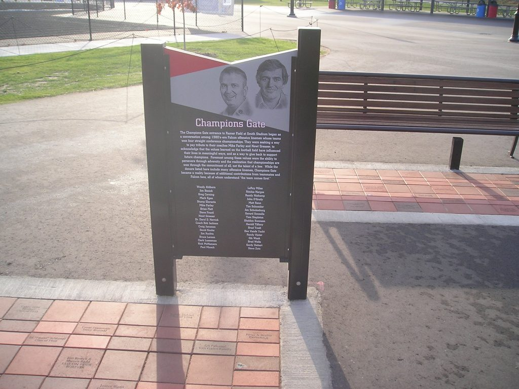 outdoor freestanding permanent donor recognition