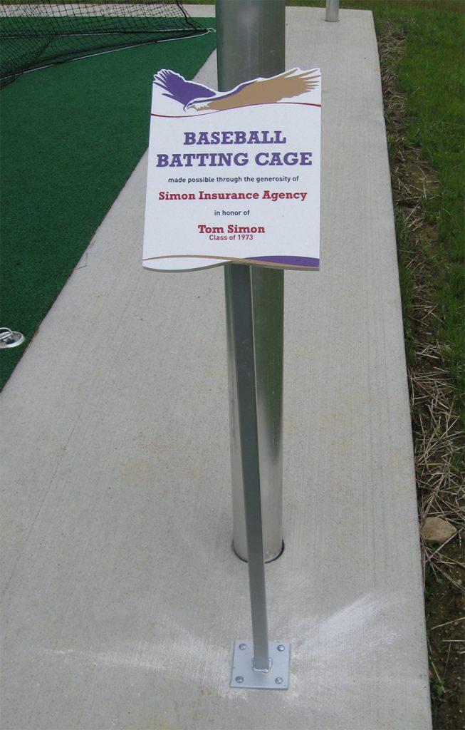 outdoor freestanding donor plaque