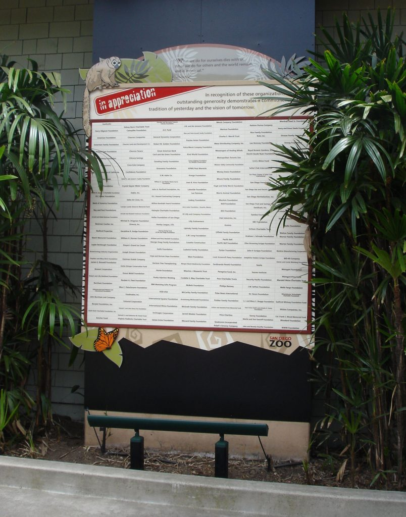 outdoor magtech donor recognition wall