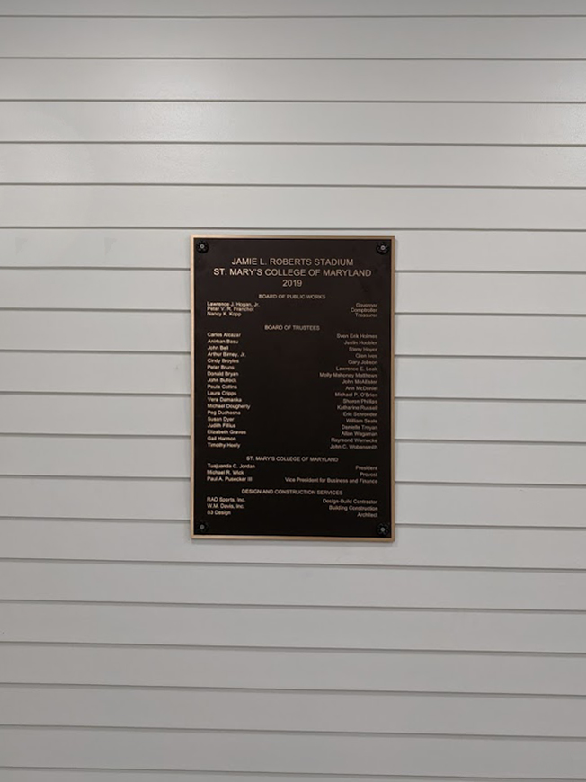 outdoor permanent donor plaque