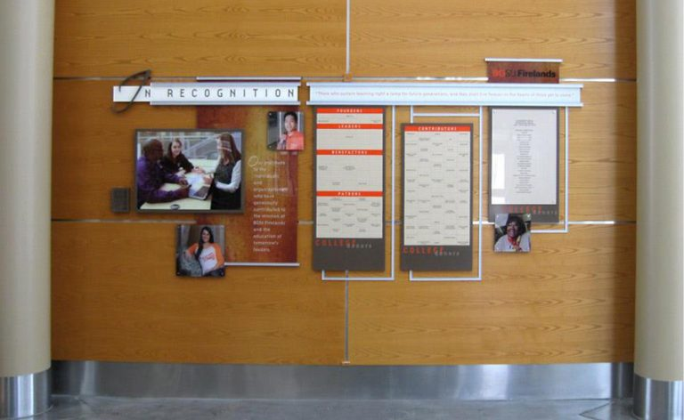 interactive, magtech and clear change donor wall