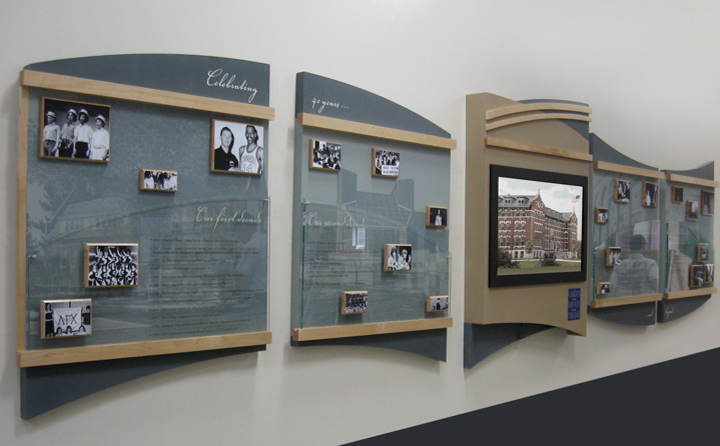 permanent history display with interactive