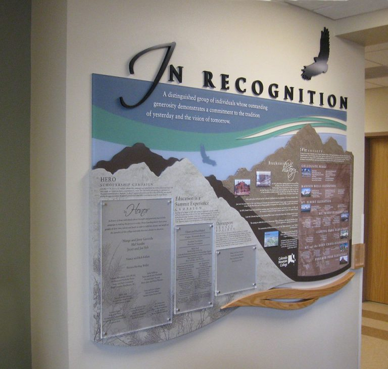 permanent history display with donor recognition