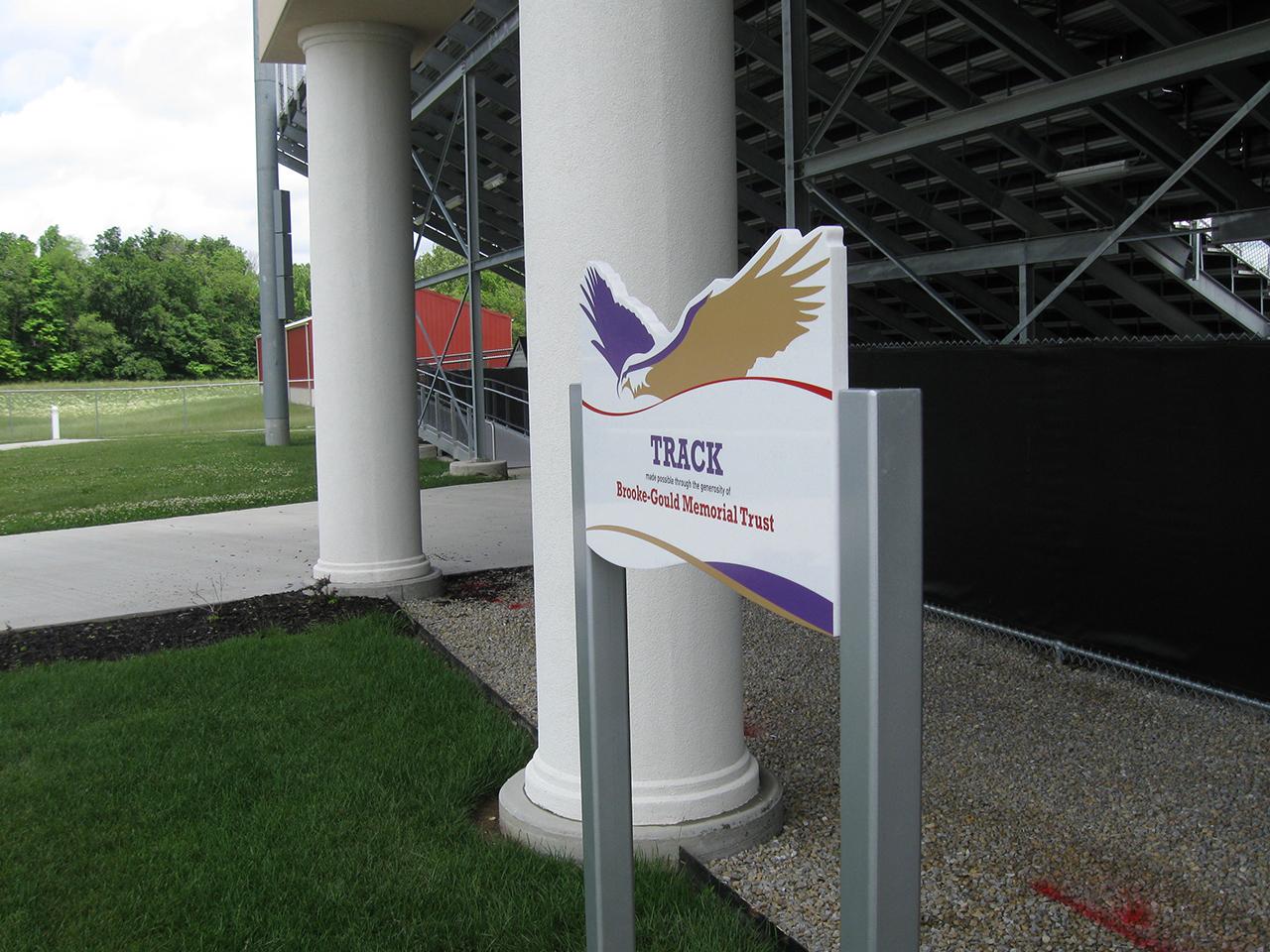 outdoor freestanding donor display