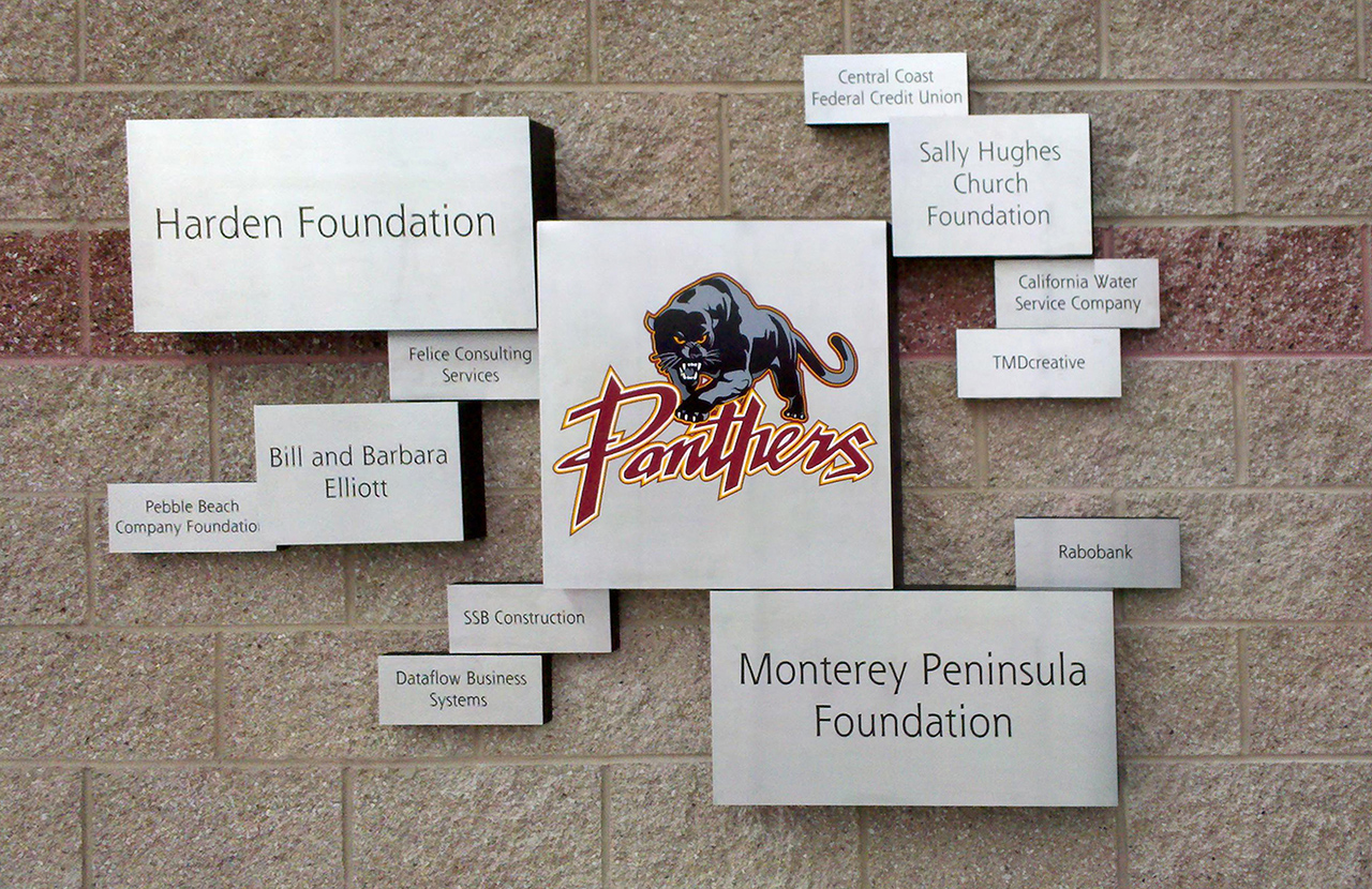 outdoor permanent add-on donor wall