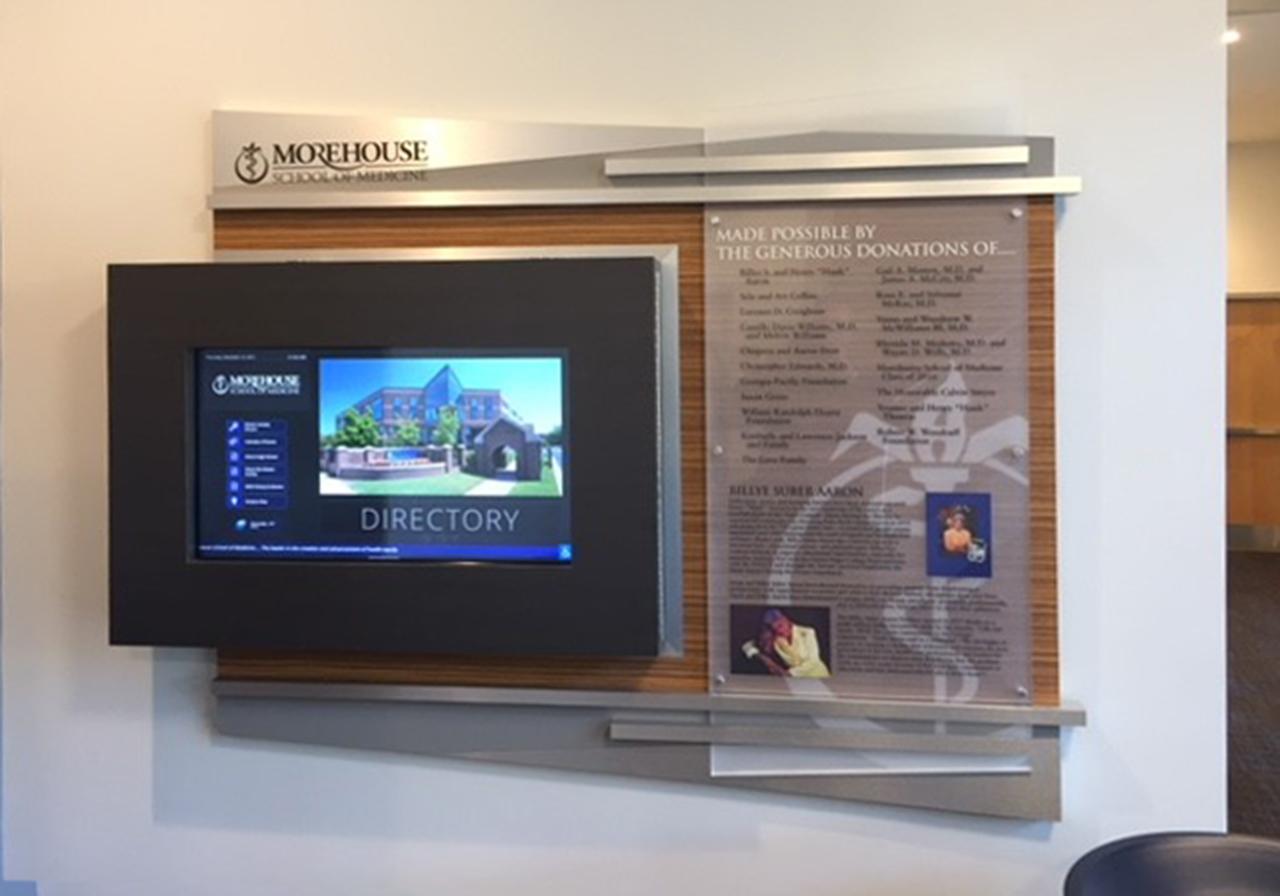 interactive donor display