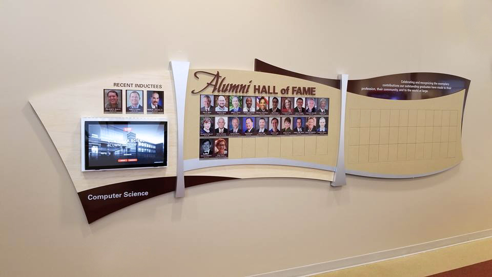 interactive and pre-defined donor wall