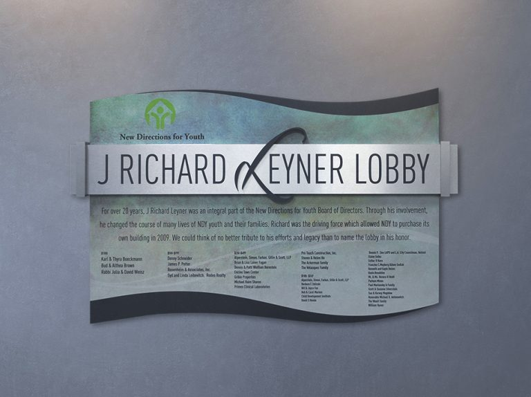 permanent donor recognition display
