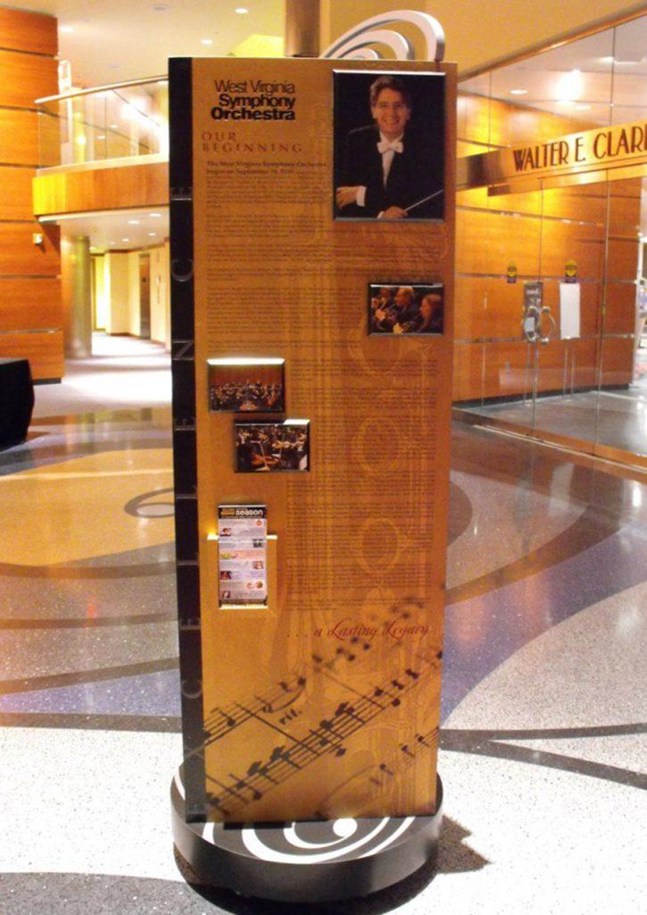 freestanding donor display