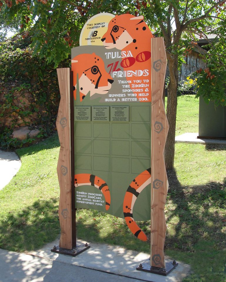 outdoor freestanding pre-defned donor display