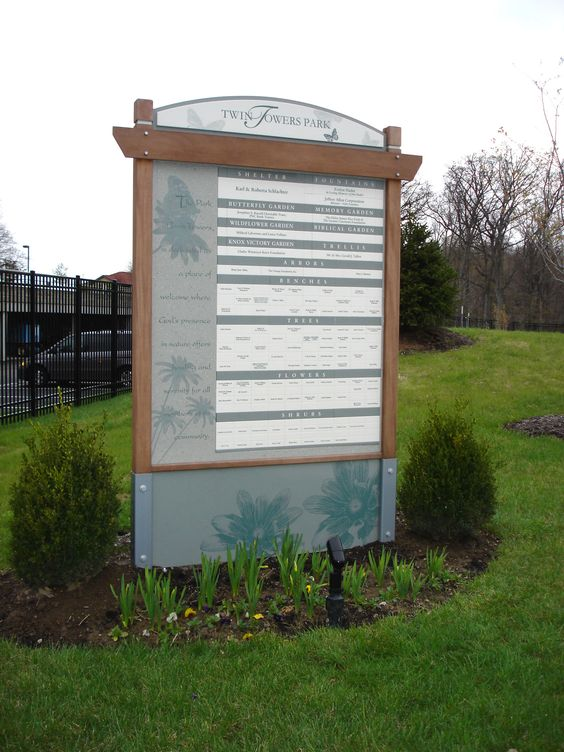 freestanding outdoor magtech donor wall