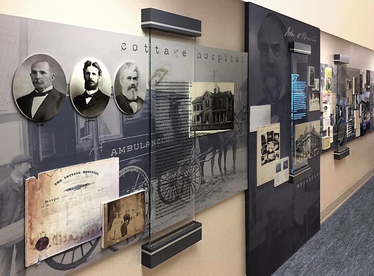 permanent history wall