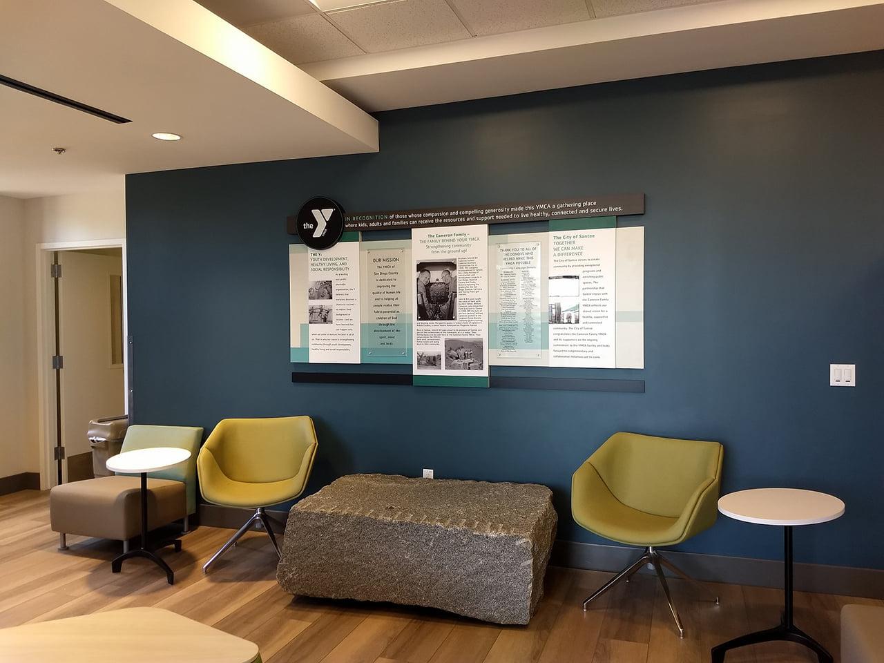 The Cameron Family YMCA history display